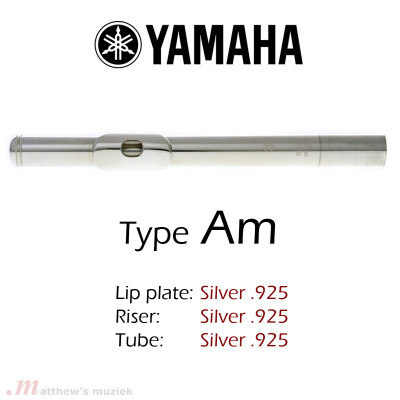 Yamaha Dwarsfluit Kopstuk - Type 'Am' Sterling Zilver