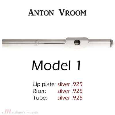 Anton Vroom Flute Headjoint - Sterling Silver - Style 1