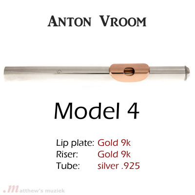 Anton Vroom Flute Headjoint - Sterling Silver with Gold Lipplate and Riser
