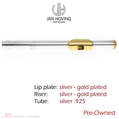 Pre-Owned Jan Hoving Headjoint - Sterling Silver - Gold Plated Lipplate/Riser and Crown