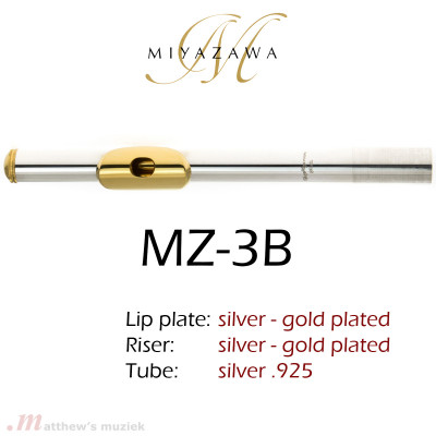 Miyazawa Head Joint - MZ-3B - Gold Plated Lipplate and Riser