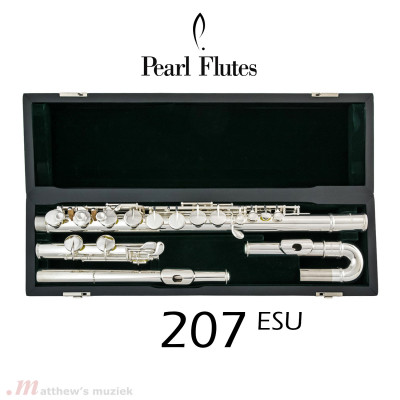 Pearl Alto Flute - 207 ESU w/Straight and Curved Head Joint