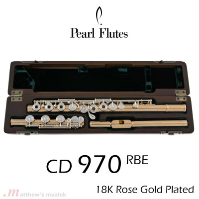 Pearl CD 970 RBE Cantabile Flute | 18k Rose-Gold Plated
