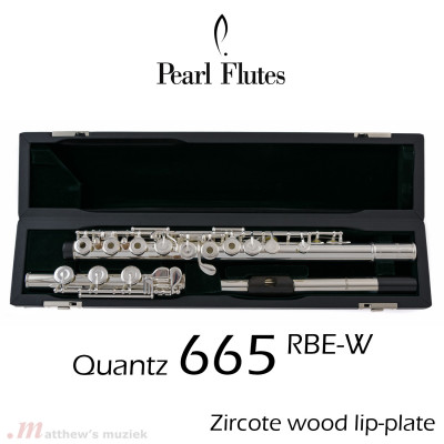 Pearl Flute - 665RBE-W with Wooden Lip-Plate