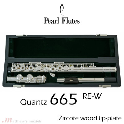 Pearl Dwarsfluit - 665RE-W with Wooden Lip-Plate
