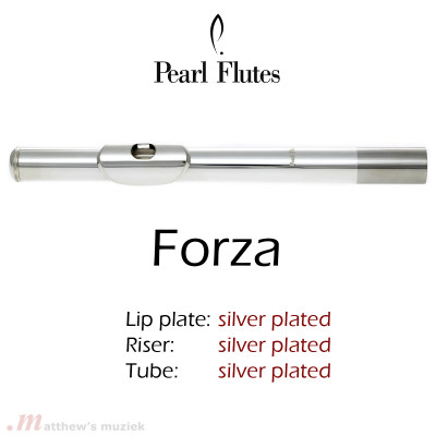 Pearl Flute Headjoint - Forza - Silver Plated