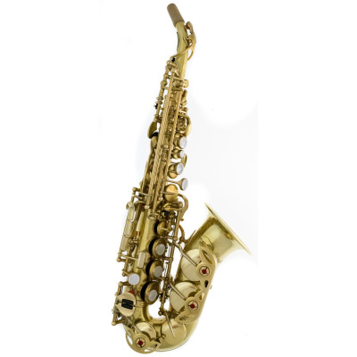 Rampone & Cazzani Curved Soprano Sax - R1 Jazz - Brushed Brass