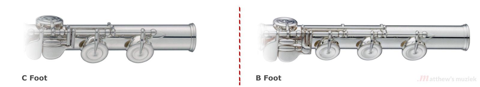 Flute Options: C-Foot vs B-Foot