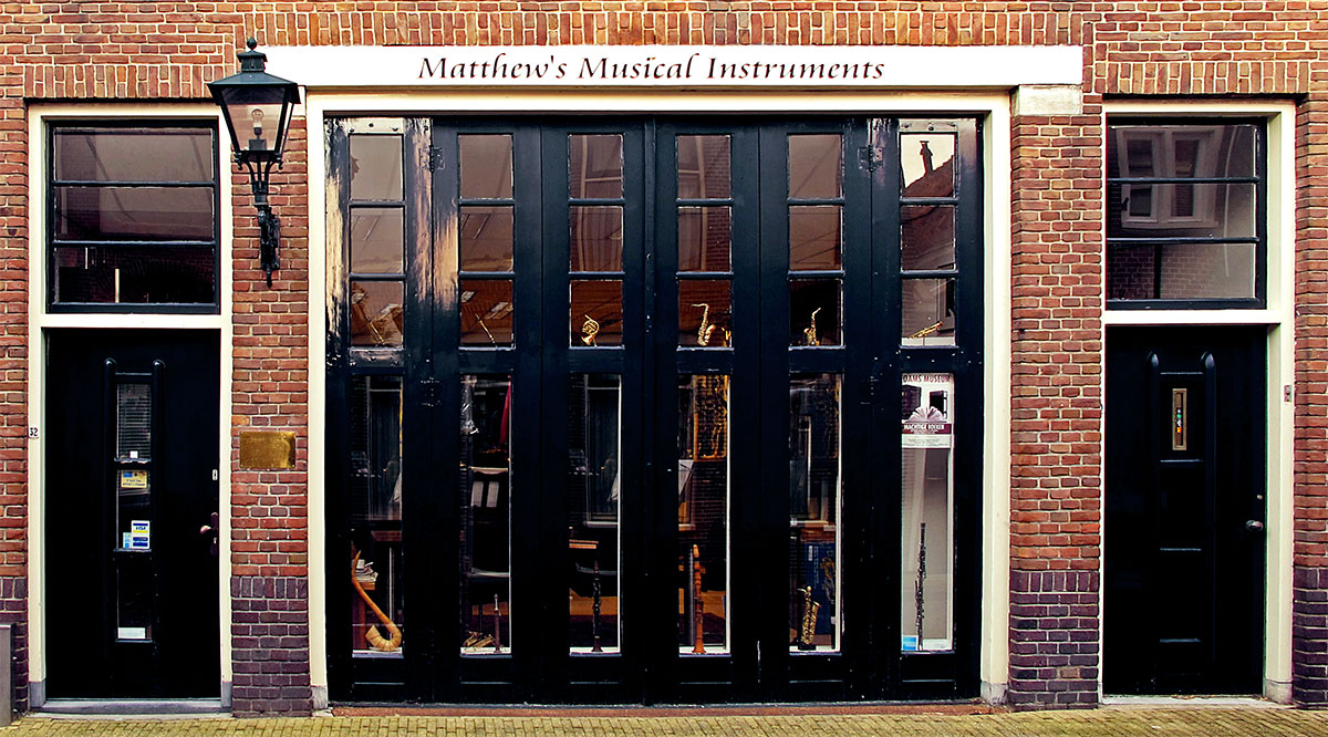 Matthew's Music Store Front in Edam, The Netherlands
